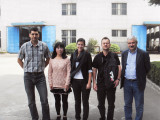 The European visiting group came to DONGFANG to buy cutting shears