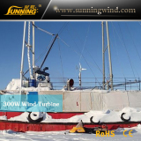 Wind solar power system for boat in the North pole