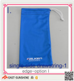 glasses drawstring bag with single-side drawstring
