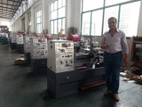 Our South american customer is inspect the popular lathe machine torno CD6241