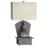low voltage lamp with fountain for indoor