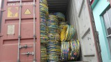 Loading container motorcycle tyres