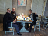Dine together with customer from Europe
