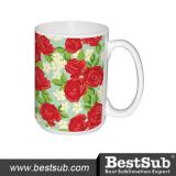 BestSub 15oz White Photo Mug