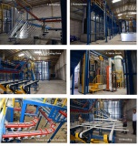 Saudi Arabia Customer Aluminium Profiles Powder Coating line Case