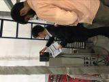 CHZIRI Engineer are testing chziri inverter in a film machine factory
