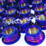 Plastic cosmetic caps metallizing