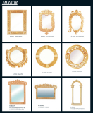 Sandstone Sculpture Frame Mirror