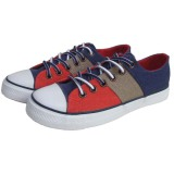 Online Wholesale Best Quality Red/Brown/Navy Twill Canvas Shoes Men/Women Footwear