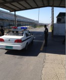 Under vehicle inspection/surveillance system UVSS installed in airport