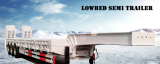 3 axle 60ton low flatbed lowbed semi trailer lowboy for sales