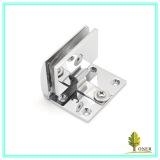 glass door button hinge/ zinc alloy hinge