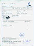 We got CS certificate from TUV company of Germany