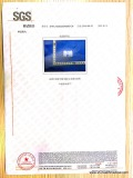 SGS certificate for micro-flow regulator page 3, physical performance report