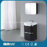 2016 High Gloss Italian PVC White Bathroom Cabinet with Mirror
