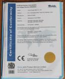XMT*808 CE Certificate