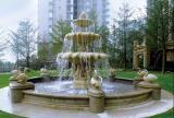 Sandstone sculpture fountain