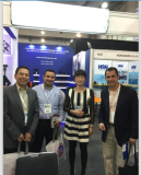 with customer in Expo Electrica Internacional