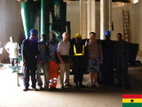 80 sets 5XZC-15 seed cleaner & grader on-site training in Ghana