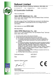 CE CERTIFICATE FOR OPEK MACHINERY