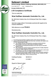 CE certificate of TR series room thermostats 1