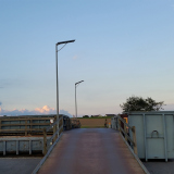 Flat series solar street light