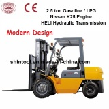 2.5 Ton Gasoline Heli Forklift with Nissan Engine (CPQD25)