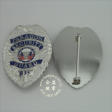 Plated Metal Police Badge