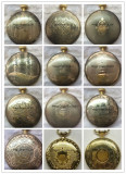 oem brass pocket watch with chain
