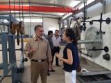 Iran customer test hollow wall spiral pipe making machine