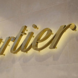 back lit led channel letter with brushed stainless steel return