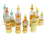 Glass Jar With Weaving-Oil Bottle (TM1208)