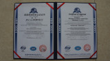 the ISO9001 quality system certification