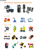 Custom shaped PVC USB Flash Drive