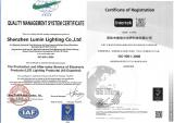 LED PANEL LIGHT ISO Certifications