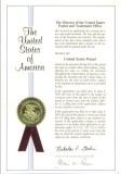 America Patent Certificate