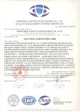 ISO9001:2008 Quality Management System Certificate
