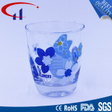 230ml Colorful Glass Tea Cup with Flower (CHM8145)