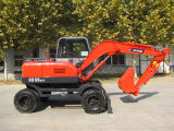 Excellent performance Baoding BD80-8 wheeled excavator reasonable price to win a good market feedbac