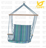 Patio Quilted Garden Swing with Comfortable Armrest