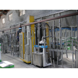 Automatic static powder coating line