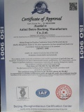 ISO9001 Certificate Of Warehouse Rack