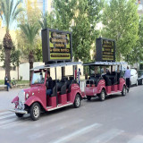 Electric Trailer Sightseeing Bus In Morocco