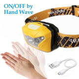 USB Port Rechargeable All Vision Sensitive-Control LED Headlamp