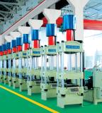 briquette hydraulic press making machines in workshop