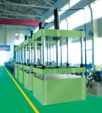 Four-column hydraulic press machines in workshop