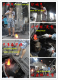 Soft glass water pipe blowing procedure