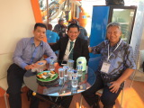 Indonesia Mining Exhibition, meeting old customer