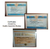 Certificates Adward by Quality inspection Bureau