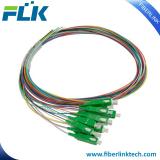 12 colors SC/APC SM Fiber Optical Multi-pigtail